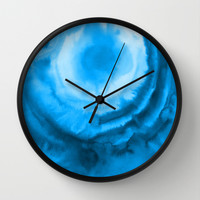 Blue Watercolour Wall Clock by J Rose