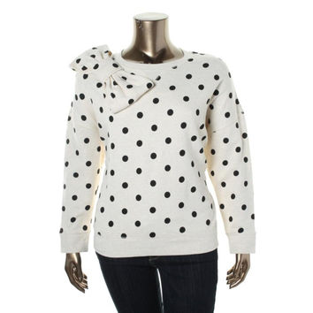 Kate Spade Womens Cotton Polka Dot Sweatshirt