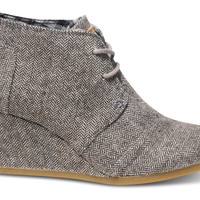 Brown Herringbone Women's Desert Wedges US
