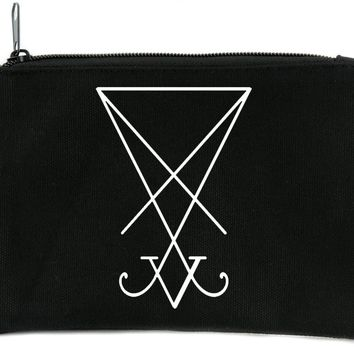 The Sigil of Lucifer Seal of Satan Cosmetic Makeup Bag Pouch Occult Accessories