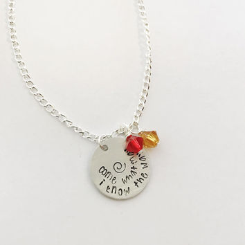 Come What May I Know The Way. No Telling How Far I'll Go Bracelet. Moana Necklace