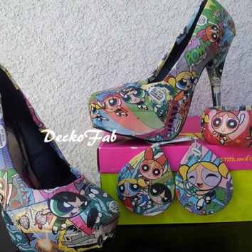 Power Puff Girl High Heel Pumps