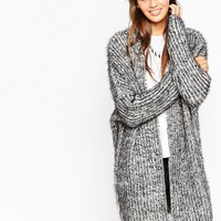 ASOS Chunky Coatigan with Slit Back