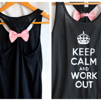 Black Keep Calm and Work Out