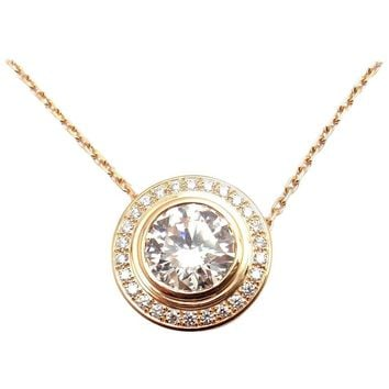 Cartier D'Amour 1.04 Carat Diamond Rose Gold Pendant Necklace