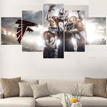 Rugby ball Logo Paintings Atlanta Falcons Modern Home Decor Living Room Bedroom Wall Art Canvas Print Painting Calligraphy