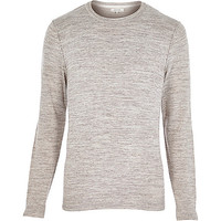 River Island MensBrown marl crew neck sweater