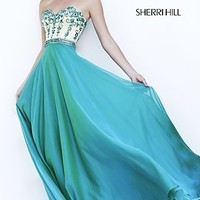 Strapless Sweetheart Sherri Hill Formal Gown