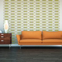 Wall Decals Retro Geometric Mod Mid Century Modern Pattern Abstract Mad Men Decor Circles Shapes