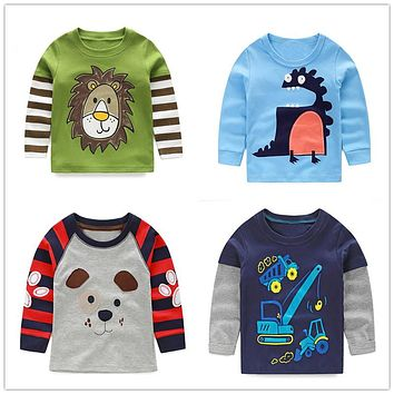 Boys t-shirt long sleeves children's t-shirts cartoon kids shirts for boys clothes cotton baby clothes boy t-shirt