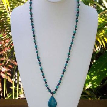 Handmade Sodalite and Turquoise Necklace-In Stock