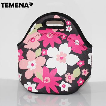 New Thermo Thermal Insulated Neoprene Lunch Bag for Women Kids Lunchbags Tote With Zipper Cooler Lunch Box Insulation Bag