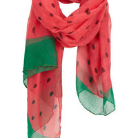 Watermelon Oblong Scarf - Pink