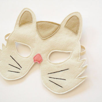 Cat Kids Felt Animal Mask Children Kitty Carnival by BHBKidstyle