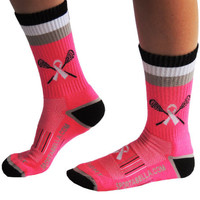Sportabella Lacrosse Socks: BREAST CANCER AWARENESS PINK - Sportabella, Ltd Store