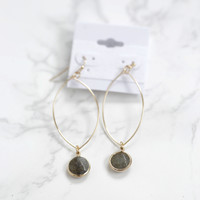 Coquille Drop Earrings, Gold