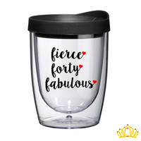 40th Birthday Wine Tumbler