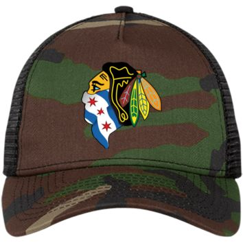 Blackhawk with Mask New Era® Snapback Trucker Cap
