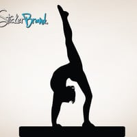 Vinyl Wall Decal Sticker Gymnastics Stretch     Item812