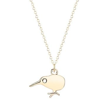 Cute Small Kiwi Bird Necklace for Women