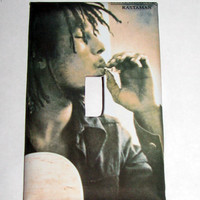 Light Switch Cover - Light Switch vintage poster Bob Marley Rastaman