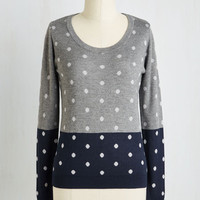 Mid-length Long Sleeve Dot Re Mi Sweater