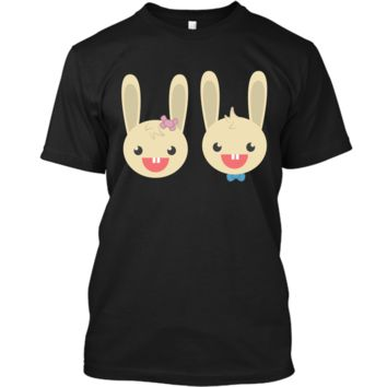 Cute Rabbit Bunny Couple Valentines Day Easter Shirt Custom Ultra Cotton