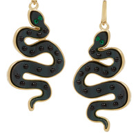 Marc by Marc Jacobs - Gold-tone, acetate and cubic zirconia snake earrings