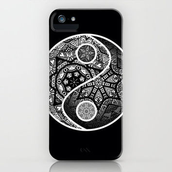 Yin Yang Zentangle iPhone Case by Wealie