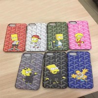 High Street Fashion Joint The Simpsons High Class Touch Phone Case Universal For iPhone 6 s Plus For iPhone 7 Plus Luxury Fundas