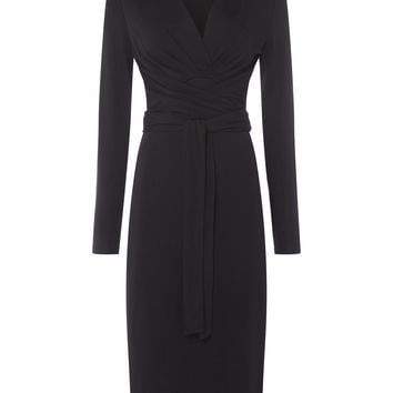 ISSA Kate Tie Wrap Dress - House of Fraser