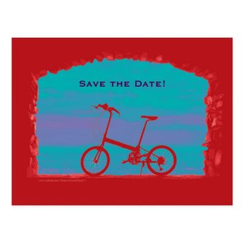 Save the Date 80th Birthday Party Postcard Bicycle