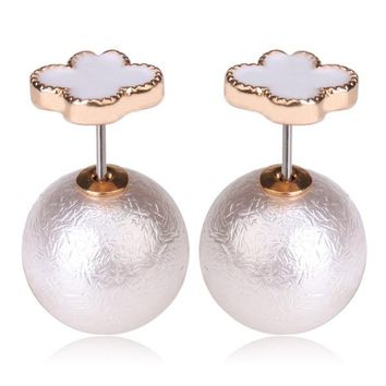 Mise en Dior Style Tribal v.s Van Cleef Earrings - White & Venetian Pearl White