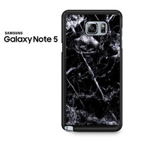 Black Marble White Samsung Galaxy Note 5 Case