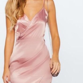 Sasha Wrap Dress Blush