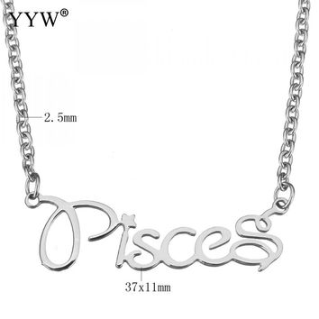 Stainless Steel Jewelry Pisces Pendant Approx 15 Inch Strand