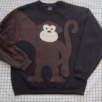 NeW MONKEY AROUND sweatshirt sweater jumper CUSTOMIZE Adults You Choose Color and size