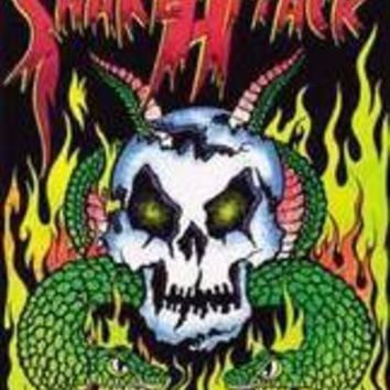 Snake Attack - Blacklight Velvet Poster
