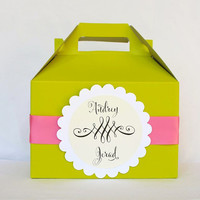 Personalized Color Hotel Welcome Boxes with Label