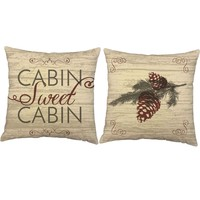 Cabin Sweet Cabin Throw Pillows