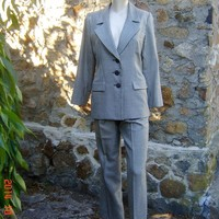 Vintage YSL Suit Classic St. Laurent Wool Silk Pant Suit