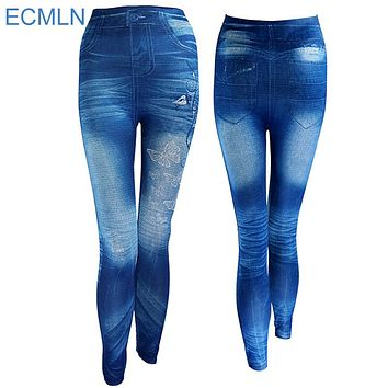 Autumn Jeans Leggings Skinny Slim Thin  Plus Size