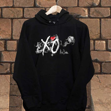 the vamps,the 1975,the strokes,The Weeknd,screenprint for hoodie black hoodie unisex adult size s-2xl