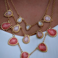 Watermelon Shades Ombre Necklace Set