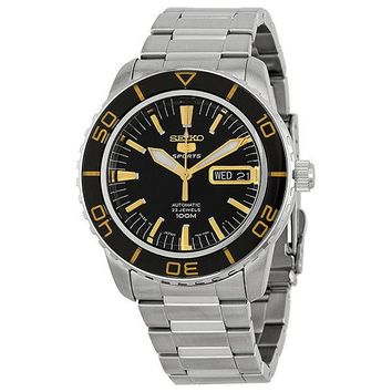 Seiko 5 Sports Automatic Black Dial Mens Watch SNZH57J1