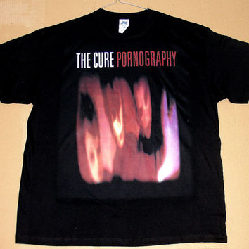 The Cure Pornography, T-shirt 100% Cotton