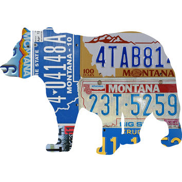 Montana License Plate Grizzly Bear