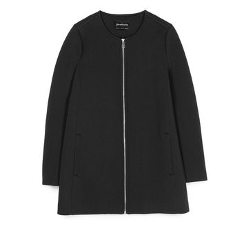 Technical round neck coat - Coats | Stradivarius Republic of Ireland