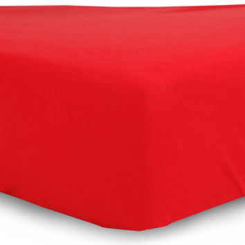 Red  Egyptian Cotton Fitted Crib Sheet