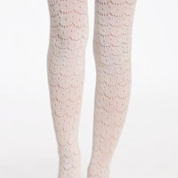 rumi curtain tights by Hansel from Basel in cream at ShopRuche.com, Vintage Inspired Clothing, Affordable Clothes, Eco friendly Fashion